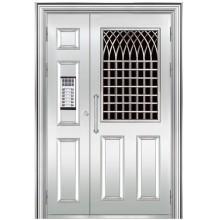 puerta de entrada de acero inoxidable
