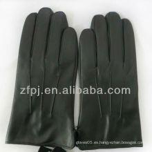 Productos de cuero negro prácticos para guantes para conducir