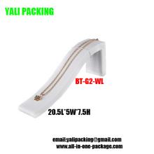 Venta al por mayor blanca elegante de la exhibición de la pulsera de la PU (BT-G2-WL)