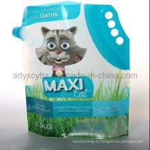 Bolsa de plástico líquida de pie con caño para limpiar / lavar el producto