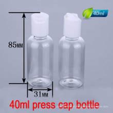 40ml Press Cap / Disc Top Bottle, Lotion Liquid Plastic Bottle Container