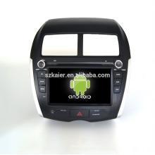 Cuatro núcleos! DVD de coche con enlace espejo / DVR / TPMS / OBD2 para pantalla táctil de 8 pulgadas de cuatro núcleos 4.4 sistema Android MITSUBISHI ASX