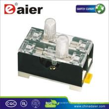 Daier FS-102 Portafusibles iluminado para fusibles 6 * 30 mm 2P