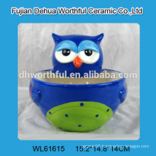 Cute owl shaped ceramic bowl for wholesale