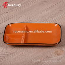 Пользовательские 3-мерные керамические квадратные тарелки