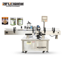 Guangzhou factory price automatic round square bottle jar can sticker labeling applicator machine with printer