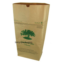 Factory Manufacture Brown Kraft Paper Bag for Leaf Trash