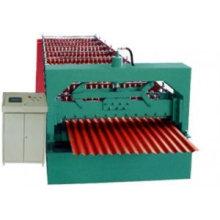 Rodillo ondulado de la hoja de la azotea que forma la máquina