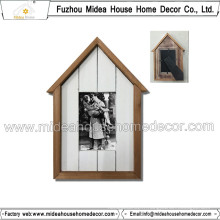 Cadre photo élégant en forme de maison