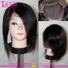 Высокое качество волос монгольской цвет #1b короткий Боб парики для чернокожих женщин