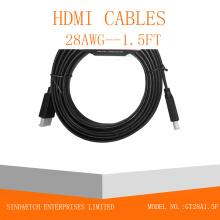Câble HDMI plat en couleur noire