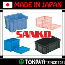 Variedade de paletes e caixas plásticas fortes e leves por SANKO Co., Ltd. Made in Japan (caixa de embalagens plásticas)