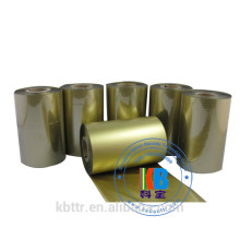 Ruban de transfert thermique pour imprimante zèbre imprimée feuille d'or métallique