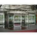 CE-Zulassung Vierflügel Automatische Drehtür aus Glas (mit Schaukasten)