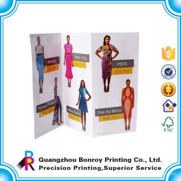 Guangzhou fait chaud ventes luxe mat art papier personnalisé robe brochure design
