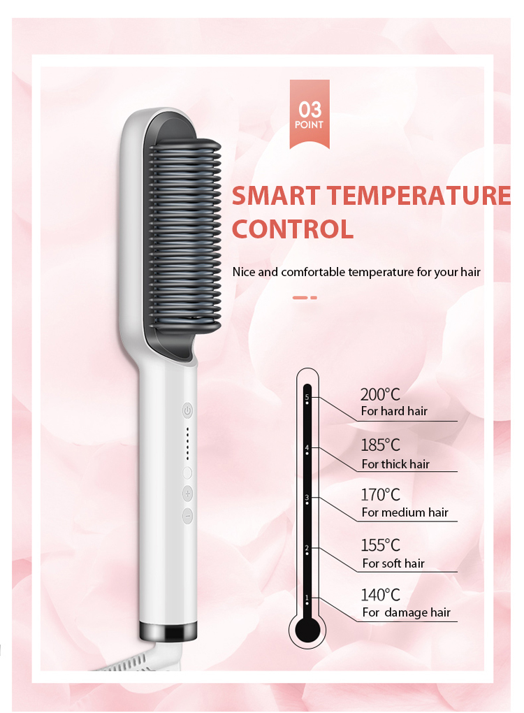 hair straightener brush philips