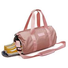 Travel Waterproof Girls Gym Logo Pink Travel Waterproof Duffel Bags Foldable Women's Travelling weekend bag