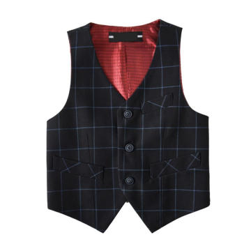 Boys 'Check 100% Polyester Basic Westen