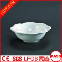 2015 New Design flower shape ceramic/porcelain bowl for soup rice salad