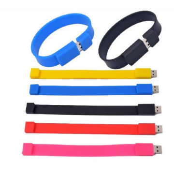 Vendita calda braccialetto Usb Flash Drive Slap wristband usb Silicone Wristband