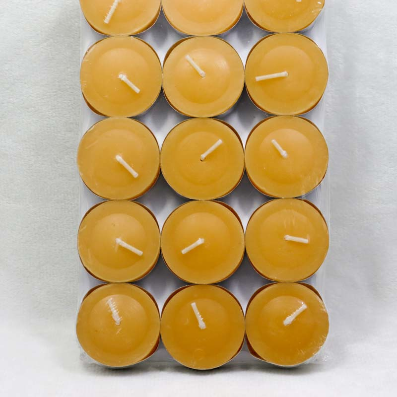 orange color tealight candles