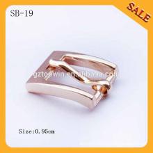 SB19 Custom fashion small metal belt buckle for shoes