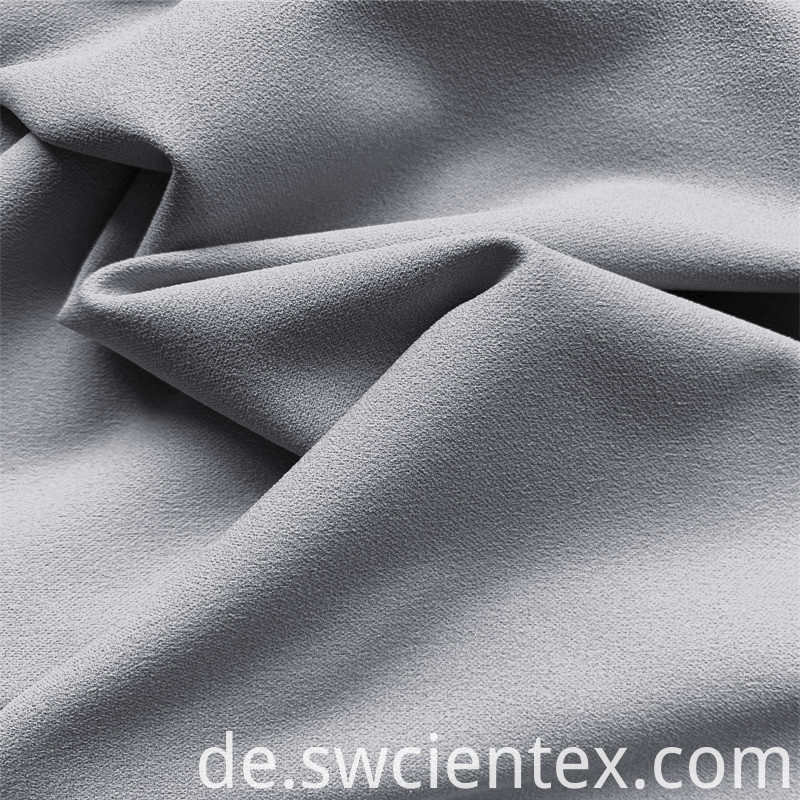 Custom Plain Gray Dty Polyester Stretch Jersey Fabric