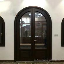 French modern new style arch top double door aluminum entrance door