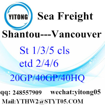 Shantou Ocean Freight Rate a Vancouver