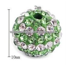 Wholesale jewelry fashion Alloy+Diamond shamballa beads HB-1024