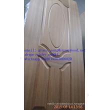 A melamina do MDF / HDF do baixo preço / folheado natural revestiu as peles moldadas da porta
