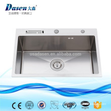 Stainless steel cabinet vessel single bowl sink 10inch depth with knife holder