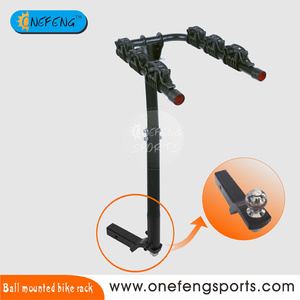 Steel ball mounted bike rack