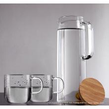 Gran vaso de agua de vidrio borosilicato