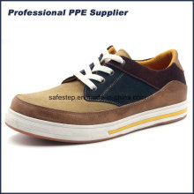 Modelo de esporte de couro genuíno Sapatos de segurança leve Ss-060