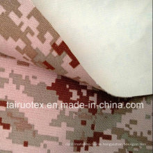 Camouflage Printed Taslon with White Coated for Military Uniform