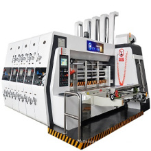Factory hot sale 2 colors print die cutting machine with stacker