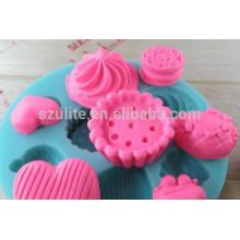 Venda quente Molho ecológico de bandeja de cubo de gelo de silicone, molde de silicone para doces
