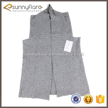 Les femmes de la mode pur gilet pull en cachemire tricoté