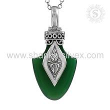 Magnífico onyx piedras preciosas plata colgante 925 joyas de plata al por mayor joyería de plata