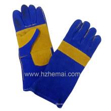Verstärkte doppelte Palme geteilte Lederhandschuhe Schweißhandschuhe Arbeitshandschuh