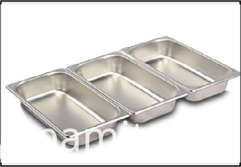 Stainless steel serving plate 3 grids