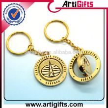 Artigifts promotion rotatable metal keychain custom