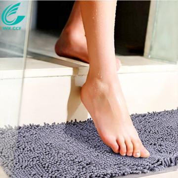 microfibre chenille salle de bain anti tapis de dérapage