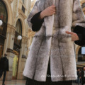Winter Reversible Long Fur Cross Damenmantel