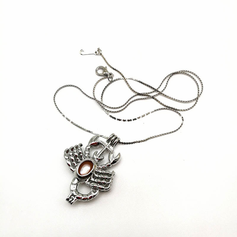 Scorpion Shape Cage Pendant Necklace
