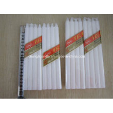 8PCS Pack Dripless Household White Plain Candle