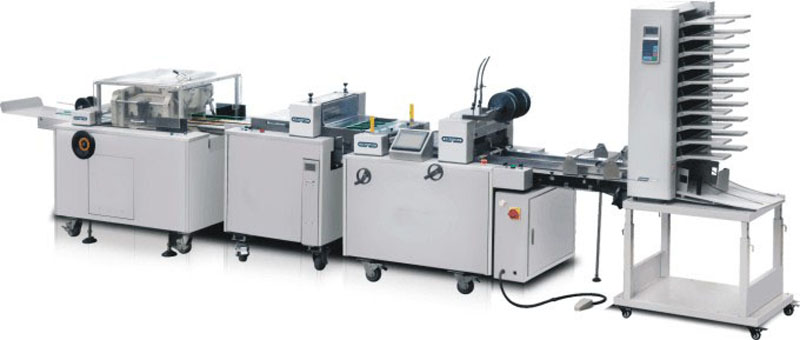ZXDZ series paper binding and folding line with front and double side cutting