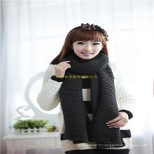 New Arrival Fashion Girl Winter Neck Warmer Écharpe tricotée Snood avec boutons