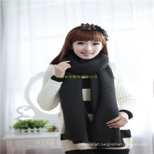 New Arrival Fashion Girl Winter Neck Warmer Knitted Snood Scarf with Buttons